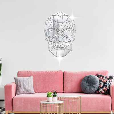 Lumi Skull Mirror Wall Sticker