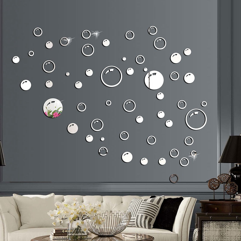 Lumi Bubble Mirror Wall Sticker