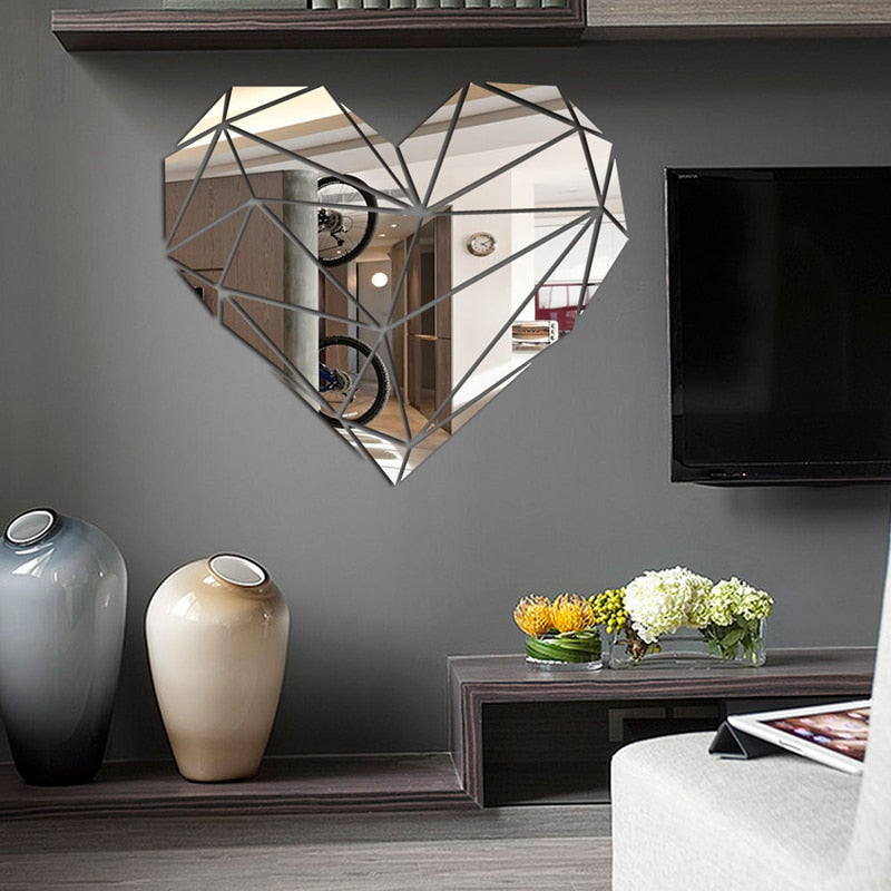 Lumi Heart Mirror Wall Sticker