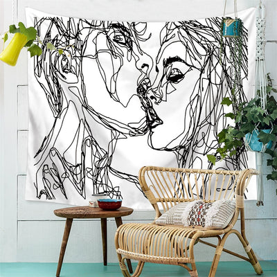 Moment Lines Tapestry