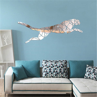 Lumi Leopard Mirror Wall Sticker