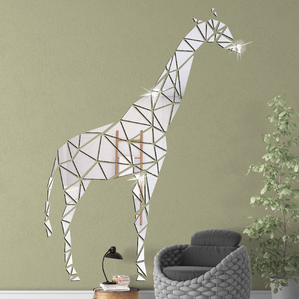 Lumi Giraffe Mirror Wall Sticker