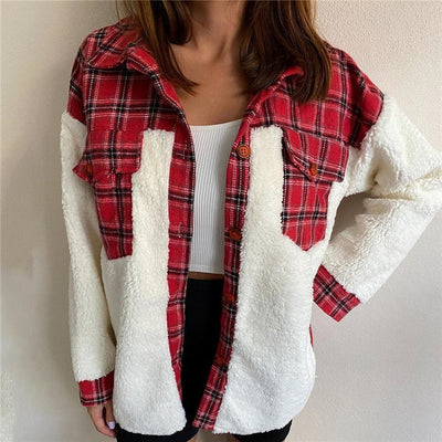 Maeve Plaid Shirt Jacket