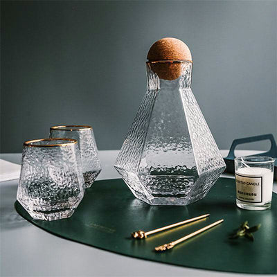 Geo House Glass Drinking Set