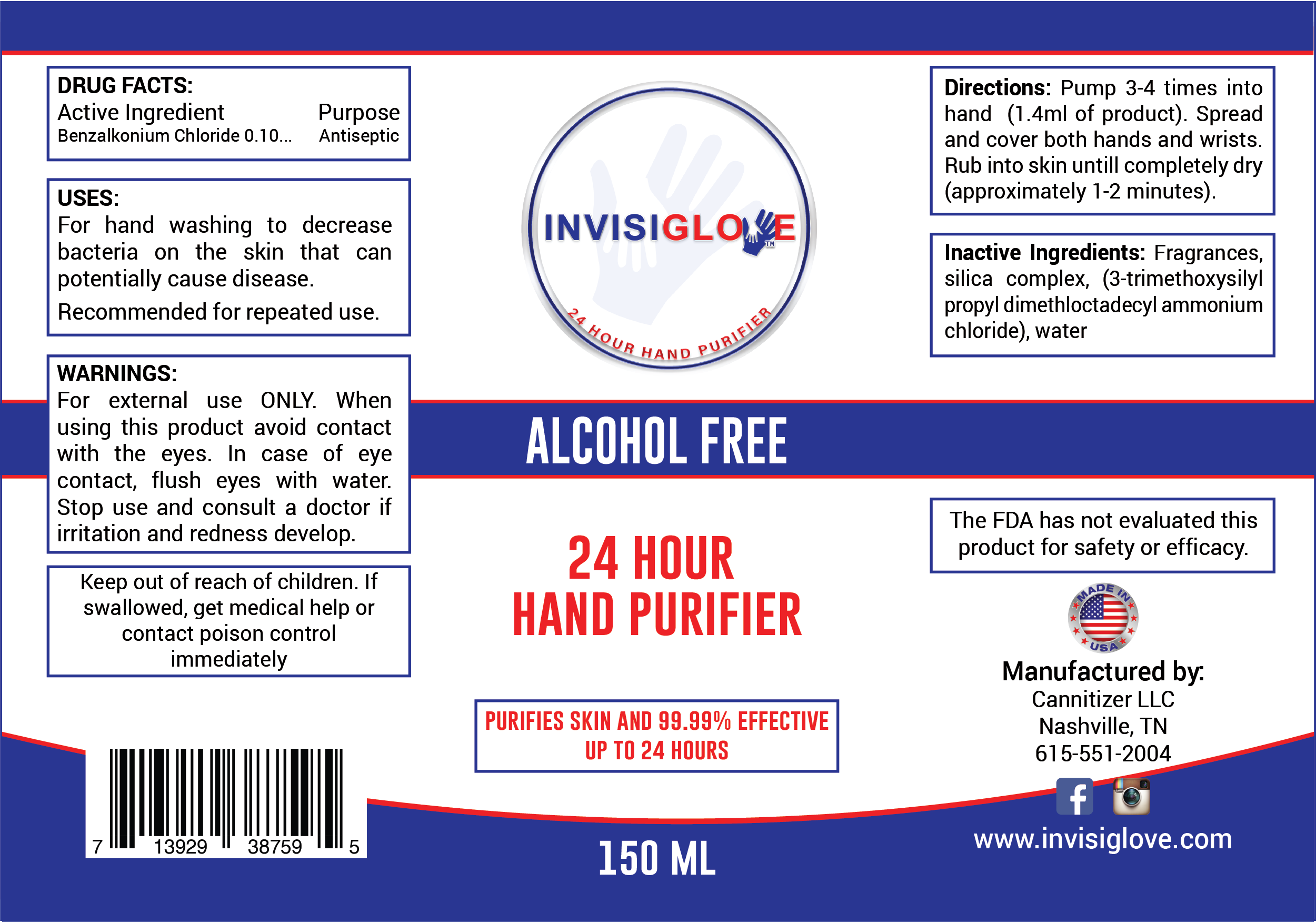 Invisiglove Hand & Skin Purifier 150ML