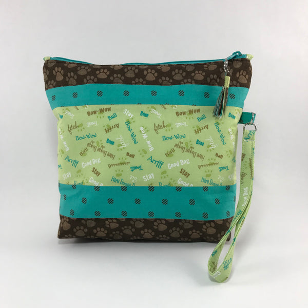 Zippered Pouch Wristlet