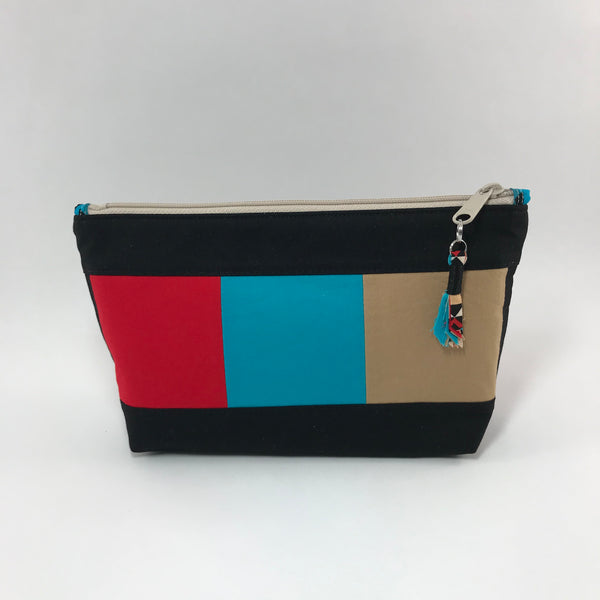 Color Blocks:  Zippered Pouch