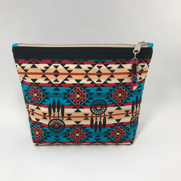 Southwestern Print:  Zippered Pouch