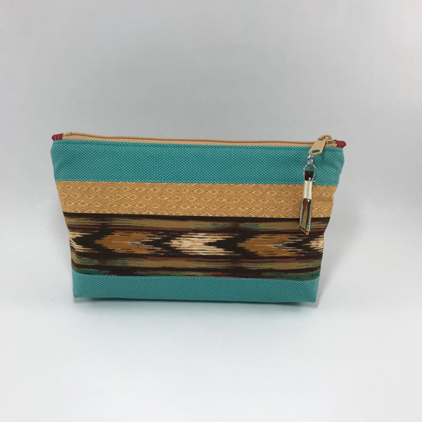 Southwestern stripes:  Zippered Pouch