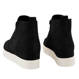 Ulterfashion Womens Perforated Hidden Wedge Sneakers