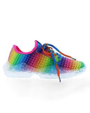 ulterfashion Breathable Colorful Crystal Bottom Lace-up Comfortable Sneakers