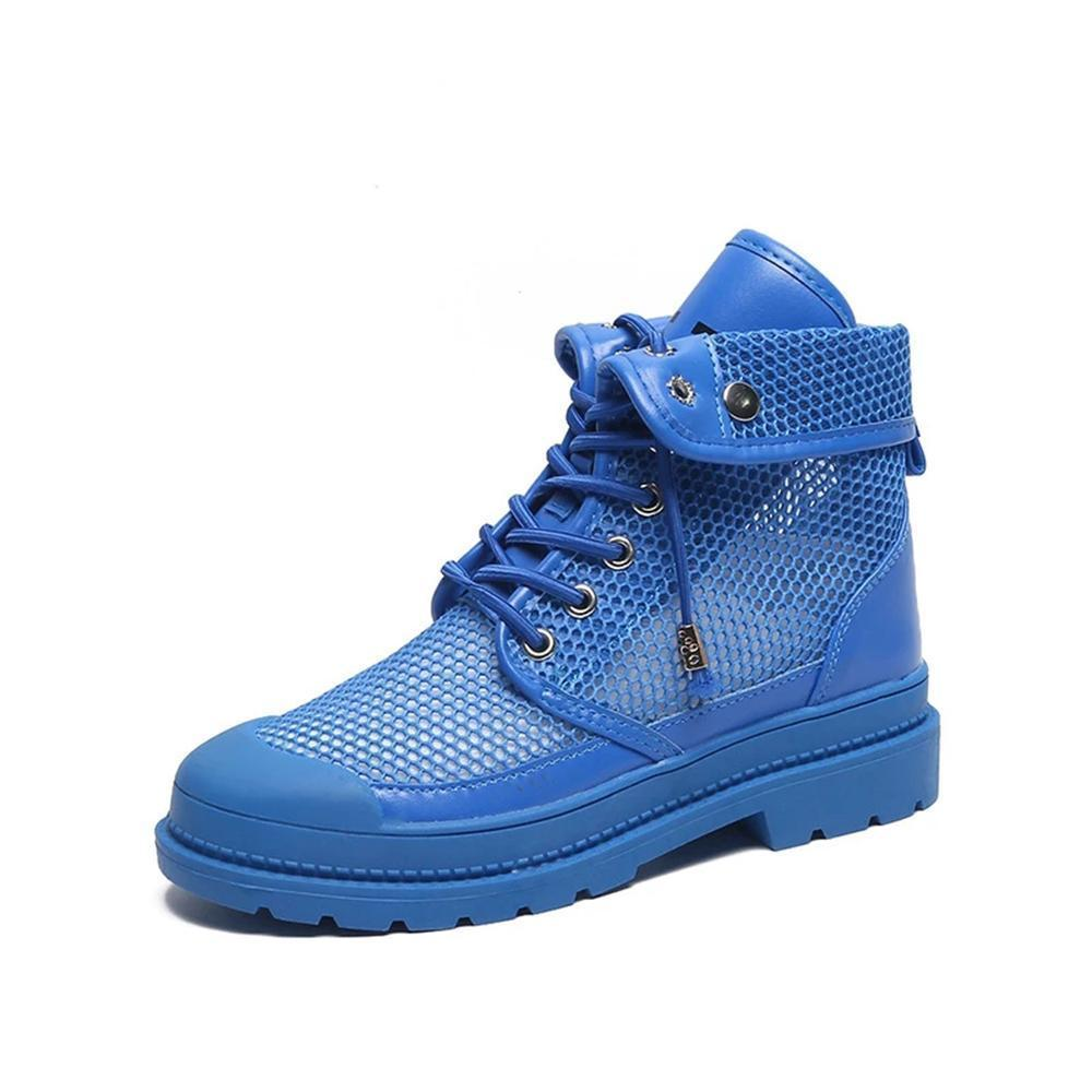 ulterfashion Womens High Top Lace up Mesh Fashion Sneakers