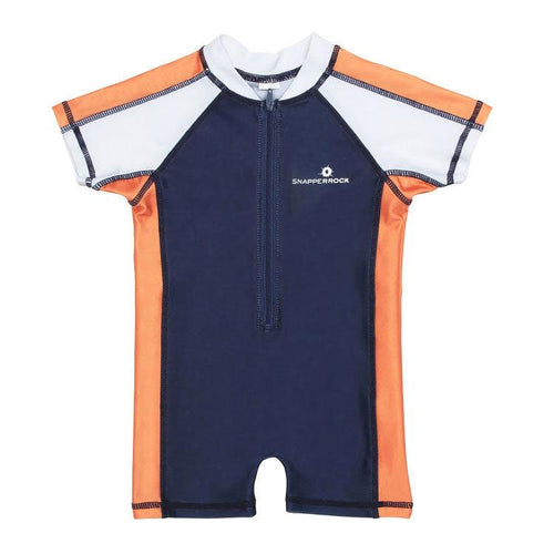 1 PC SUNSUIT - BLUE/ORG/WHT - West End Kids