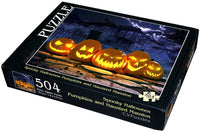 "Spooky Halloween Pumpkins and Haunted Mansion 504 Piece 16"" X 20"""
