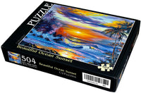 "Beautiful Ocean Sunset 504 Piece 16"" X 20"""