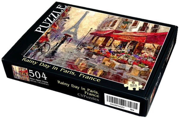 "Rainy Day in Paris, France 504 Piece 16"" X 20"""