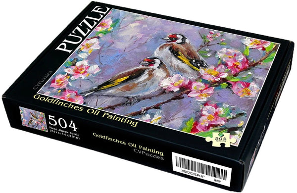 "Goldfinches Oil Painting 504 Piece 16"" X 20"""