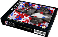 "Patriotic French Bulldog 504 Piece 16"" X 20"""