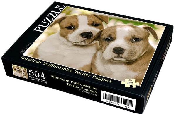 "American Staffordshire Terrier Puppies 504 Piece 16"" X 20"""