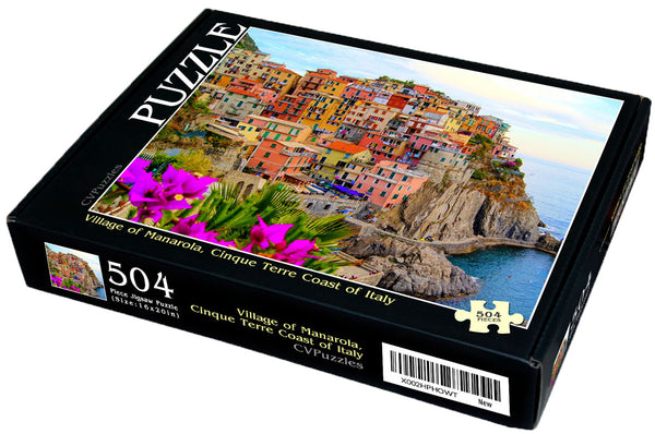 "Village of Manarola, Cinque Terre Coast of Italy 504 Piece 16"" X 20"""