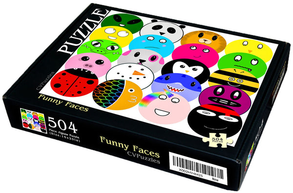 "Funny Faces - 504 Piece 16"" X 20"""