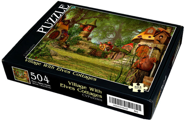 "Village with Elves Cottages 504 Piece 16"" X 20"""