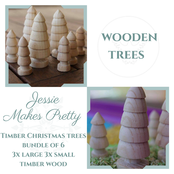 JMP - Christmas wooden Trees