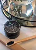 Charcoal Powder with Bamboo Toothbrush