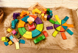 Jumbo Natural Rainbow Blocks 86 pcs
