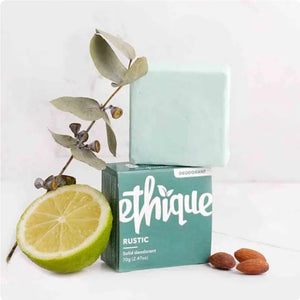 Rustic Solid Deodorant Bar, with Lime & Eucalyptus