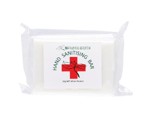 Hand Sanitising Soap Bar Cleanses & Sanitises - 50g