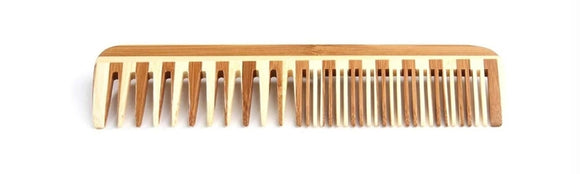 Bamboo Wood Comb Large Wide & Fine Tooth