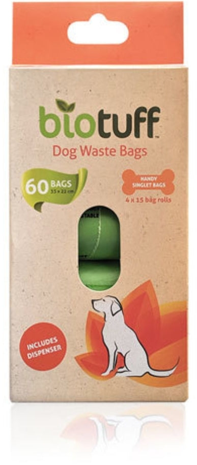 Biotuff Dog Waste Bags & Dispenser