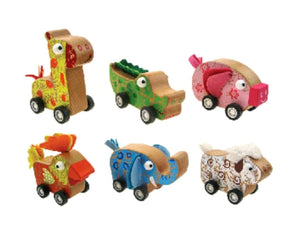 Wooden Pull Back Animals