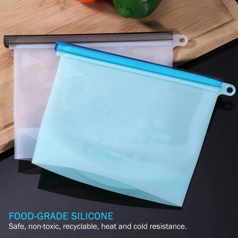 Reusable Silicon Food Bag (1000 ML)