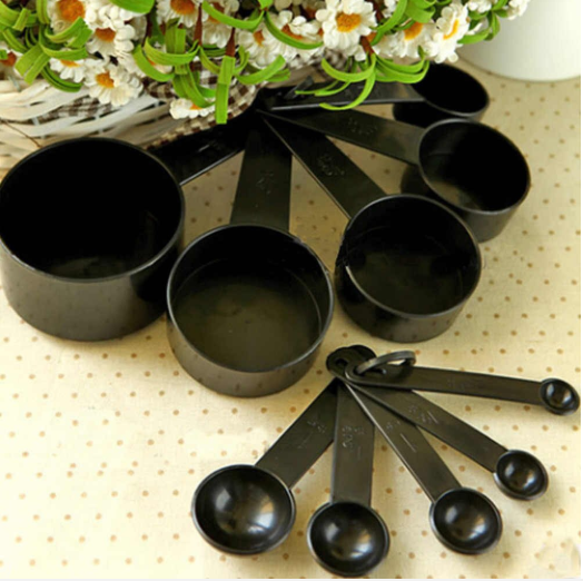 Measuring Cups and Spoons, 8-Pieces ( Black )
