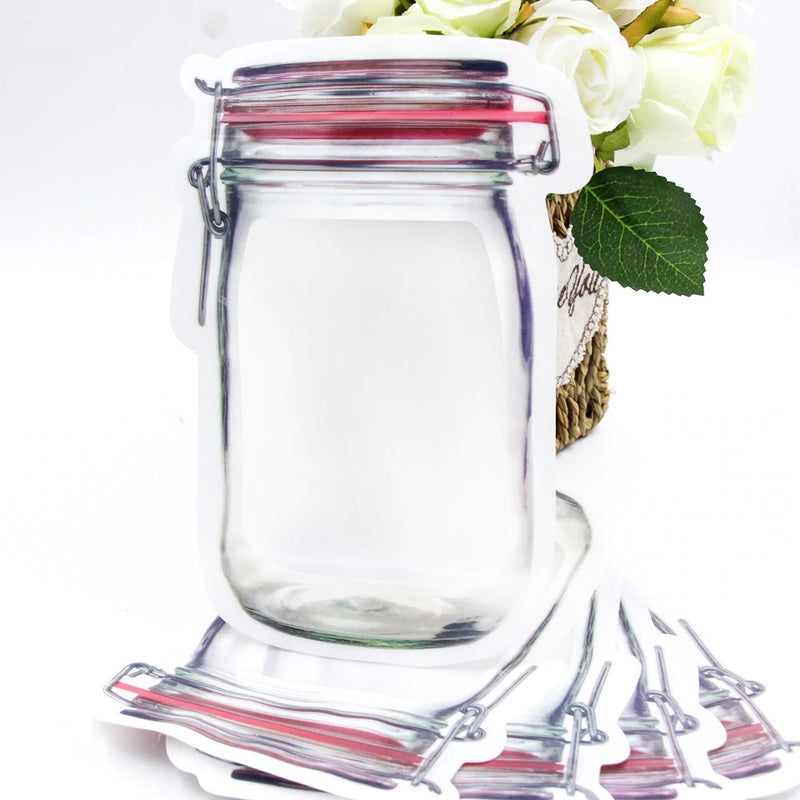 Premium Jar Shaped Air Tight Pouch  (550 ML)