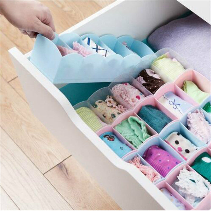 Socks Organizer 4 Pieces Set (Multi Color)