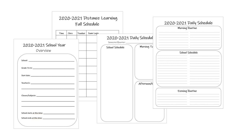 distance learning student planner