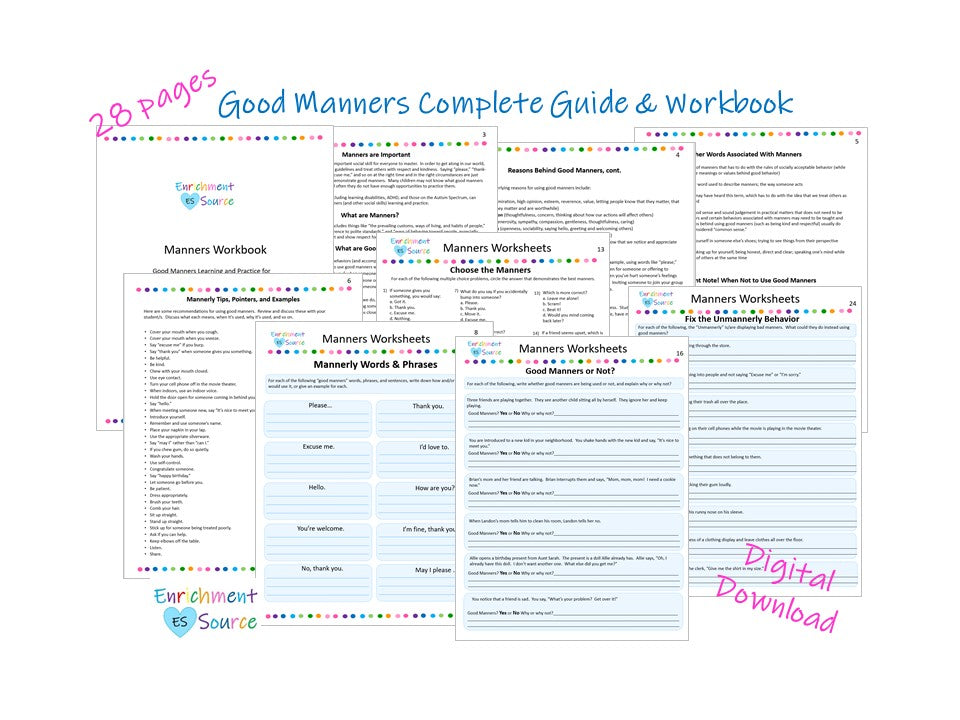 good manners workbook for kids