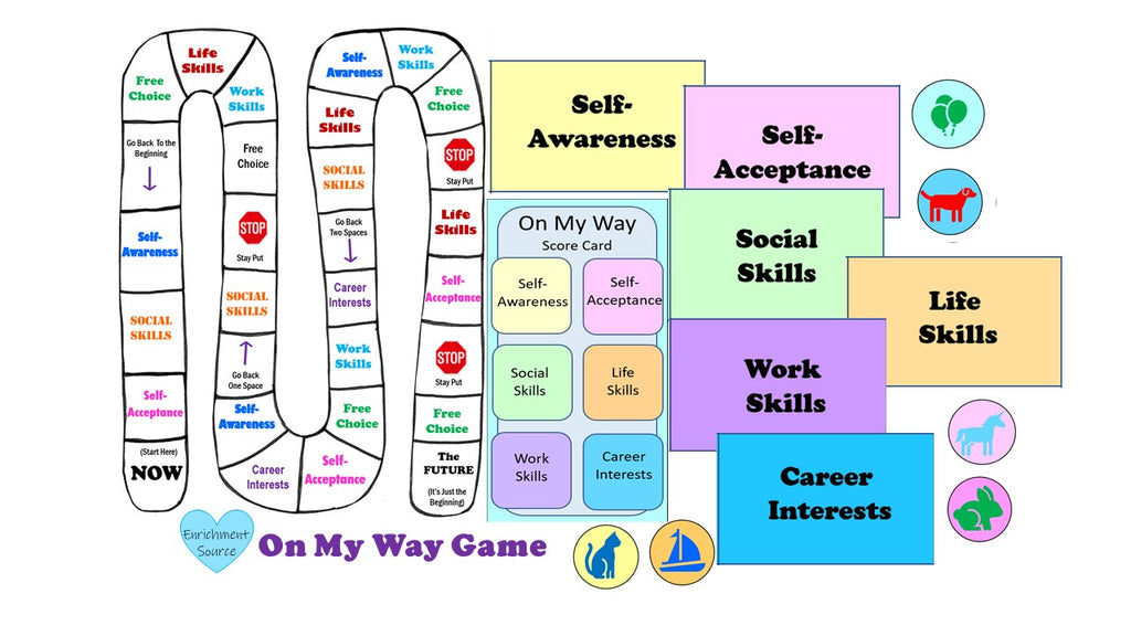 life skills printable board game