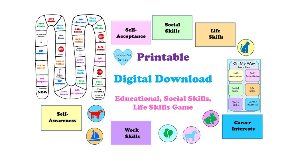 social skills, life skills, preparing for adulthood game
