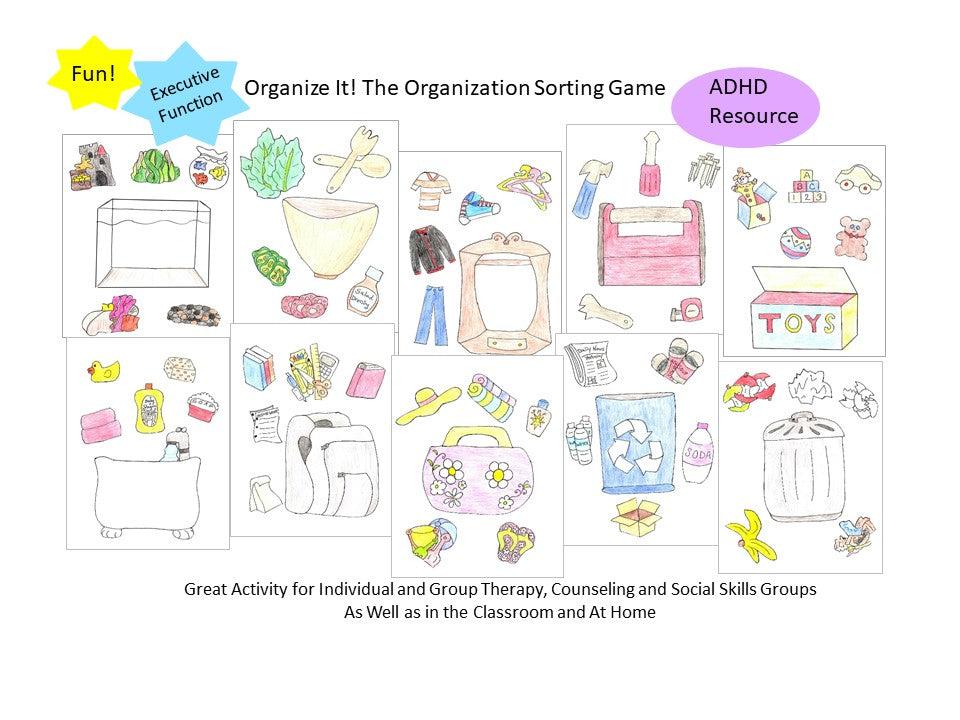 kids organization game printable