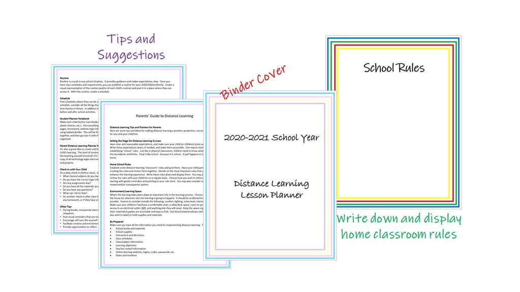 2020-2021 parent homeschooling planner