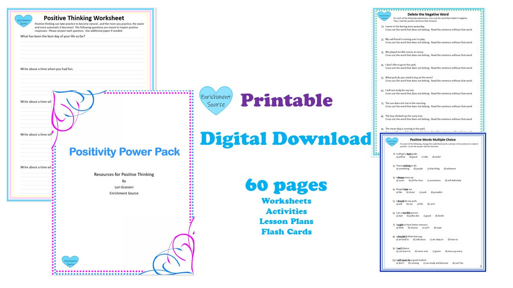 kids positivity journal printable