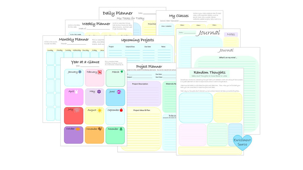 student planner printable digital download