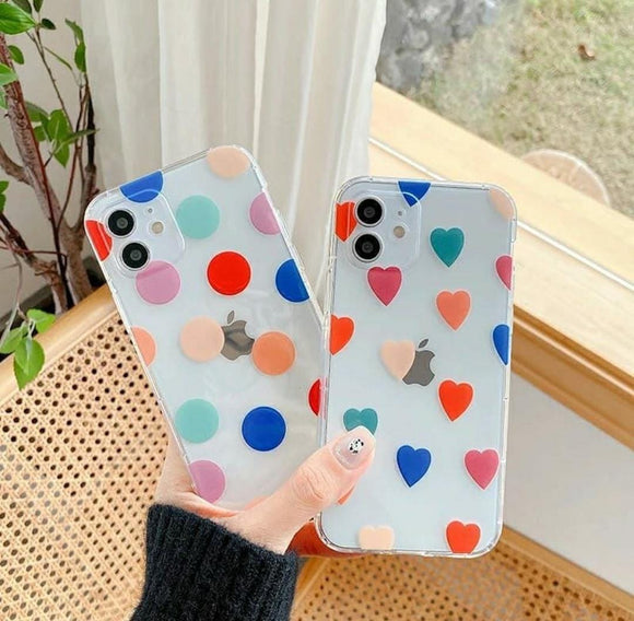 Hearts Printed Silicone Case Available For 250+ Phone Models