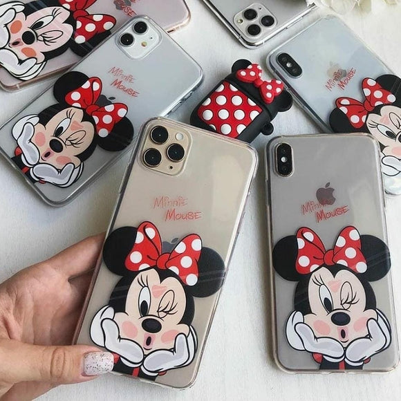 Minnie Printed Silicone Case Available For 250+  Phone Models