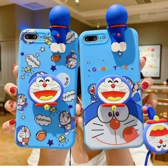 Doremon Printed Case With Toy And Grip Available For 650+ Phone Models