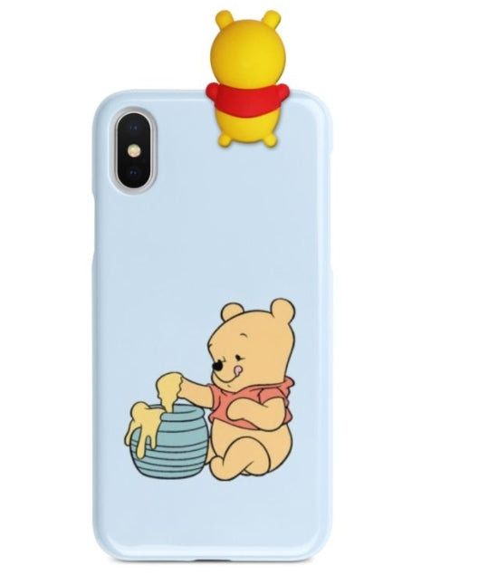 Pooh Printed Case With Toy Available For 650+Phone Models